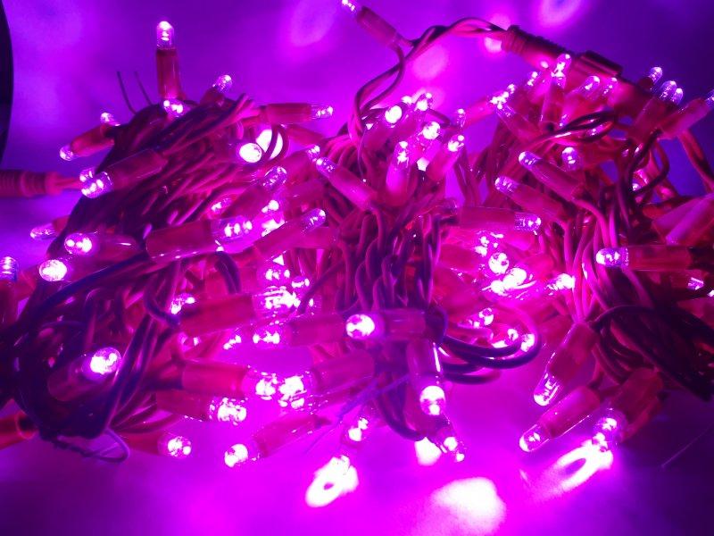 LED Lichterkette pink 12m Länge  Erweiterung
