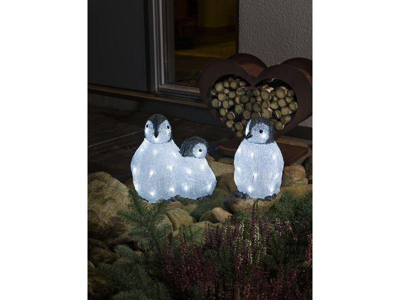 Pinguin Familie mit kaltweissen LEDs