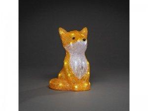 Fuchs mit weissem LED ausgeleuchtet