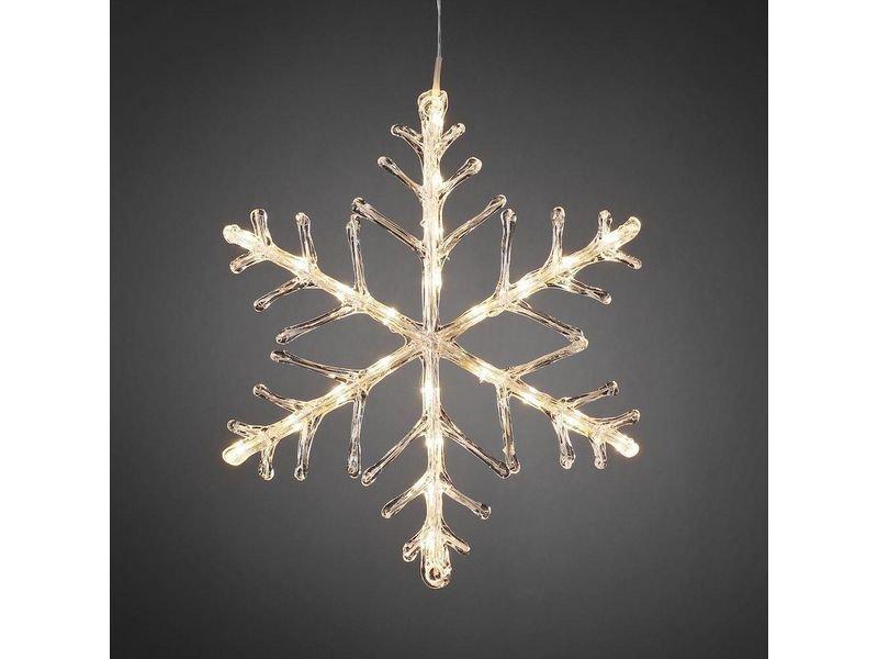 Schneeflocke aus Acryl warmweisse LED