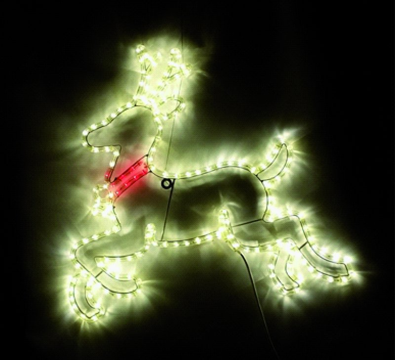 LED Rentier mit Schlaufe warmweiss