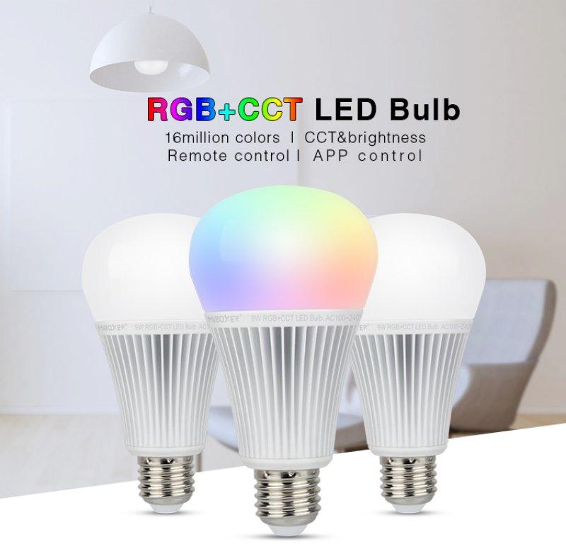 LED E27 Kugel E27 9 Watt RGBcct