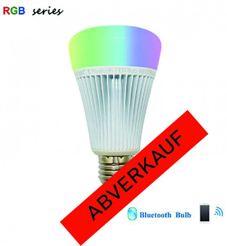 LED E27 Bluetooth 8W RGBW
