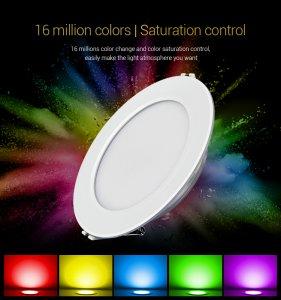LED Einbauleuchte Rund 9 Watt RGBcct justierbar MiLight