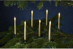 LED Kerzen Carolina 10er Set gold