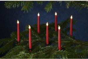 LED Kerzen Carolina 10er Set rot