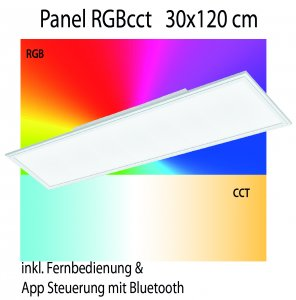 Panel RGB cct Eglo connect 30x120cm