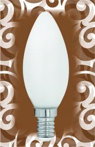 LED Kerze E14 4W Milch-Cover