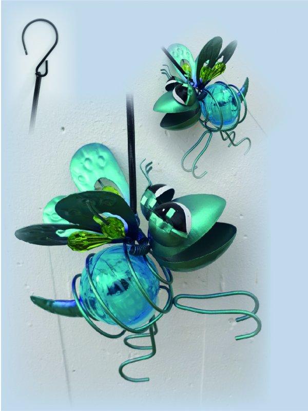 Insekt blau Solar mit Hänge-Feder