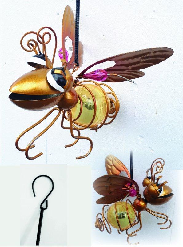 Insekt gold Solar mit Hänge-Feder