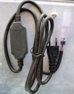 Anschluss für 230V LED Lichterschlauch schwarz