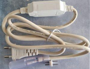 Anschluss für 230V LED Lichterschlauch weiss