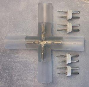 Kreuzverbinder 230V LED Lichterschlauch