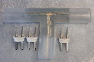 T - Verbinder 230V LED Lichterschlauch