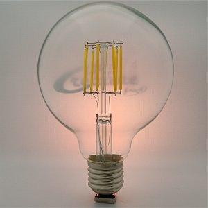 LED Globe Kugel E27 8 Watt Filament ww
