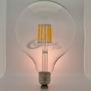 LED Globe Kugel E27 12 Watt Filament ww