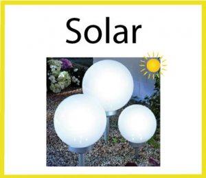 Leuchten divers mit Solarpanel
