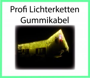 Lichterketten Gummikabel Koppelbar